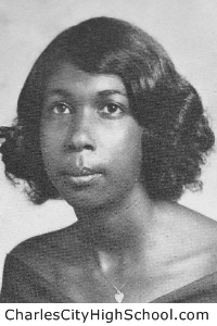 Jestine Bradby yearbook picture