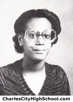 Celestine Williams yearbook picture