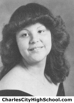 Christine Holmes yearbook picture