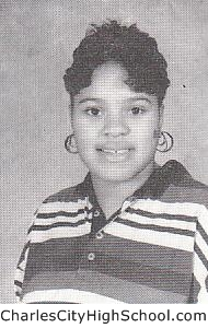 Cheryl Burrell yearbook picture