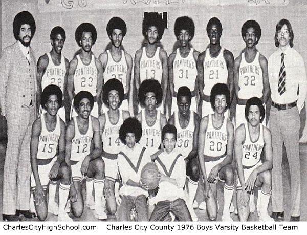 Charles City High School 1976 Boys Varsity Basketball Team