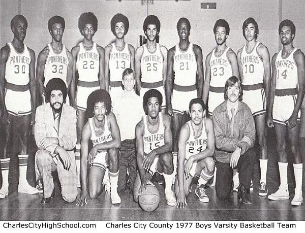 1977 Charles City High School Basketball Team Photo