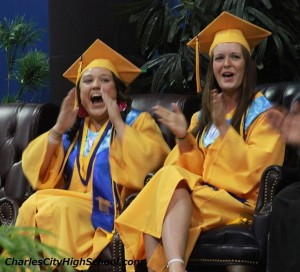 Logan Madison and Stefanie Burch at Charles City County Graduation